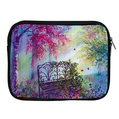 Bench In Spring Forest Apple Ipad 2/3/4 Zipper Cases