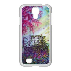 Bench In Spring Forest Samsung Galaxy S4 I9500/ I9505 Case (white)