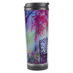 Bench In Spring Forest Travel Tumbler