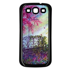 Bench In Spring Forest Samsung Galaxy S3 Back Case (black)