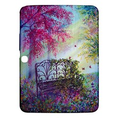 Bench In Spring Forest Samsung Galaxy Tab 3 (10.1 ) P5200 Hardshell Case