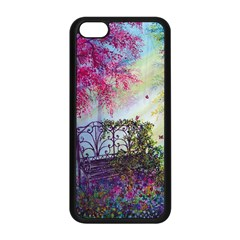 Bench In Spring Forest Apple Iphone 5c Seamless Case (black)