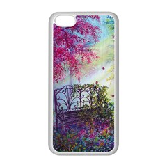 Bench In Spring Forest Apple Iphone 5c Seamless Case (white)