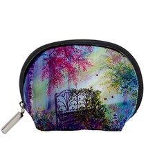 Bench In Spring Forest Accessory Pouches (Small)