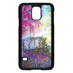 Bench In Spring Forest Samsung Galaxy S5 Case (Black)