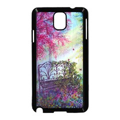 Bench In Spring Forest Samsung Galaxy Note 3 Neo Hardshell Case (Black)