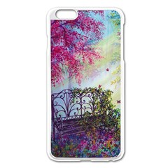 Bench In Spring Forest Apple Iphone 6 Plus/6s Plus Enamel White Case