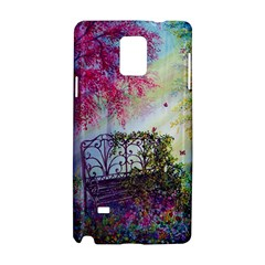 Bench In Spring Forest Samsung Galaxy Note 4 Hardshell Case
