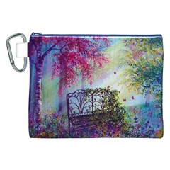 Bench In Spring Forest Canvas Cosmetic Bag (XXL)