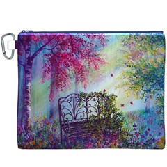 Bench In Spring Forest Canvas Cosmetic Bag (xxxl)