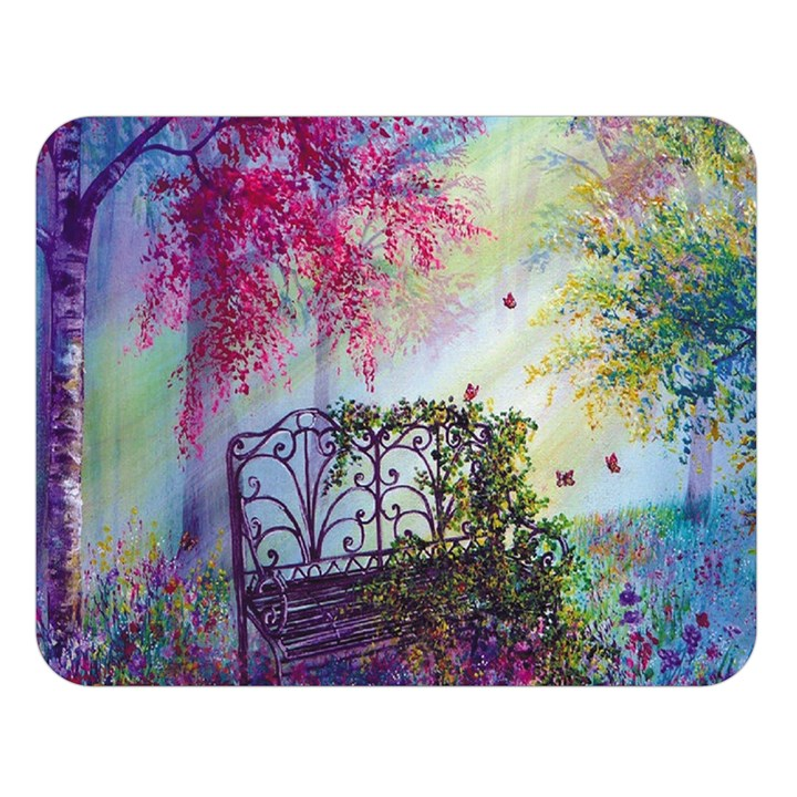 Bench In Spring Forest Double Sided Flano Blanket (Large)