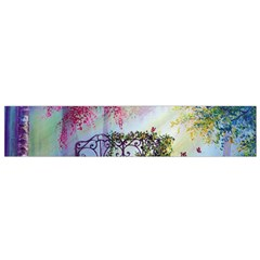 Bench In Spring Forest Flano Scarf (small)