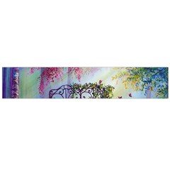 Bench In Spring Forest Flano Scarf (large)