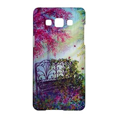 Bench In Spring Forest Samsung Galaxy A5 Hardshell Case