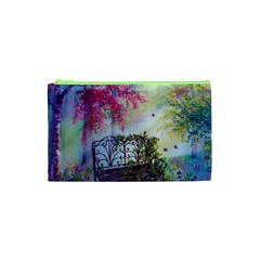 Bench In Spring Forest Cosmetic Bag (XS)