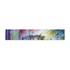 Bench In Spring Forest Flano Scarf (Mini)