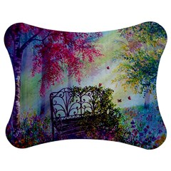 Bench In Spring Forest Jigsaw Puzzle Photo Stand (bow)