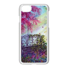 Bench In Spring Forest Apple Iphone 7 Seamless Case (white)
