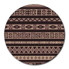 Ethnic Pattern Vector Round Mousepads