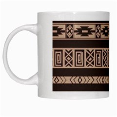 Ethnic Pattern Vector White Mugs