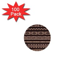 Ethnic Pattern Vector 1  Mini Buttons (100 Pack)