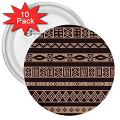 Ethnic Pattern Vector 3  Buttons (10 Pack)