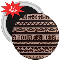Ethnic Pattern Vector 3  Magnets (10 Pack)