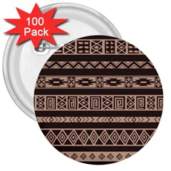 Ethnic Pattern Vector 3  Buttons (100 Pack)