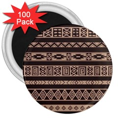 Ethnic Pattern Vector 3  Magnets (100 Pack)