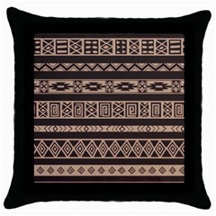 Ethnic Pattern Vector Throw Pillow Case (Black)