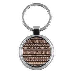 Ethnic Pattern Vector Key Chains (round)