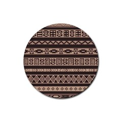 Ethnic Pattern Vector Rubber Round Coaster (4 Pack)