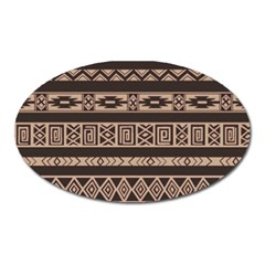 Ethnic Pattern Vector Oval Magnet
