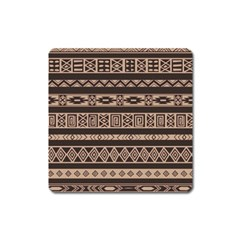 Ethnic Pattern Vector Square Magnet