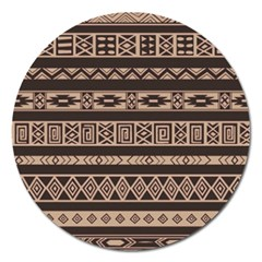 Ethnic Pattern Vector Magnet 5  (Round)