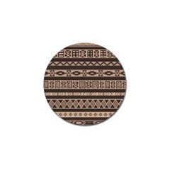 Ethnic Pattern Vector Golf Ball Marker (4 Pack)