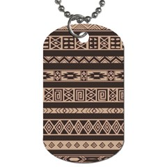 Ethnic Pattern Vector Dog Tag (two Sides)