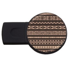 Ethnic Pattern Vector USB Flash Drive Round (1 GB)
