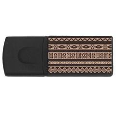 Ethnic Pattern Vector USB Flash Drive Rectangular (1 GB)