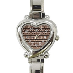 Ethnic Pattern Vector Heart Italian Charm Watch
