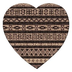 Ethnic Pattern Vector Jigsaw Puzzle (heart)