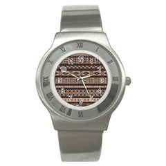 Ethnic Pattern Vector Stainless Steel Watch