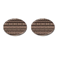 Ethnic Pattern Vector Cufflinks (oval)