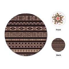 Ethnic Pattern Vector Playing Cards (round)