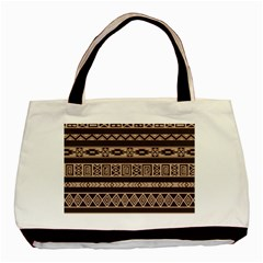 Ethnic Pattern Vector Basic Tote Bag