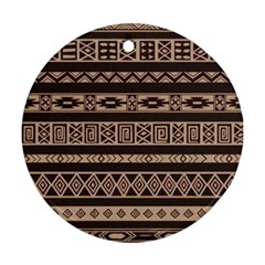 Ethnic Pattern Vector Round Ornament (two Sides)