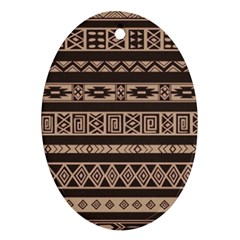 Ethnic Pattern Vector Oval Ornament (Two Sides)