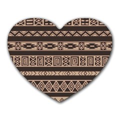 Ethnic Pattern Vector Heart Mousepads