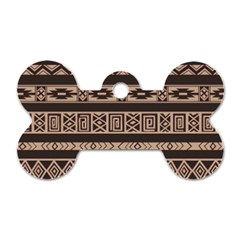 Ethnic Pattern Vector Dog Tag Bone (one Side)