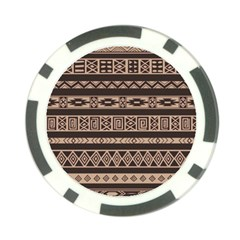 Ethnic Pattern Vector Poker Chip Card Guard